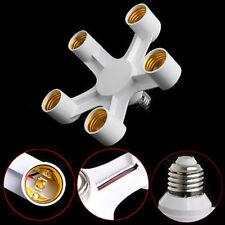 E27 To 5/7 E27 LED Light Lamp Bulb Socket Holder Base Converter Adapter Splitter