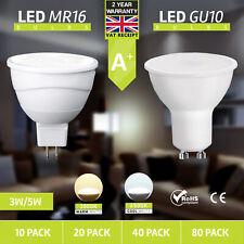 10x 3W 5W MR16 GU10 LED Bulbs Spotlight Warm Cool Day White Downlights GU5.3