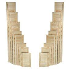 Natural Clear Pine Wood Door, Open Louvre Door, Wardrobe, Cupboard Door, Slatted