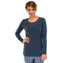 Schiesser Ladies Mix & Relax Long Sleeve Shirt T-Shirt Gr 36-4 S-4XL Sleep NEW