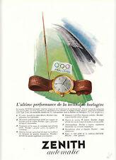 Publicité ancienne montre automatic Doxa  Zénith 1950