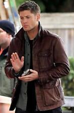 Men's Supernatural Season 7 Genuine Brown Cow Leather Jacket/Coat
