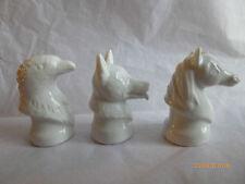Wade Whimsie-Bianco Animale Testa Busto Eagle, Cane, Cavallo
