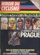 MIROIR DU CYCLISME 1981 N 306 CHAMPIONNATS DU MONDE 81