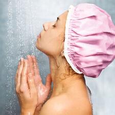 27cm Waterproof Women Double Shower Cap Ladies Magic Bath Hat One Size 1PC US