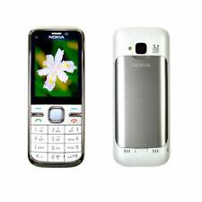 White Original Nokia C5-00I Hebrew Keyboard  5MP Unlocked Bluetooth Mobile Phone