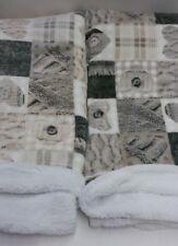 Plaid in pile agnellato caldissimo stampati matrimoniale 200x230 cm. N200