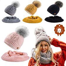 Set Scarf Or Hat Mohair Wool Women Winter Knitted Beanie Hat Worm Neck Fleece