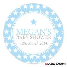 Personalised Baby Shower Birth Sticker Seals Labels Boy Girl | 03LA