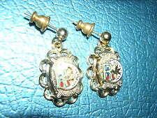 EARRINGS Gold? Daughters of REBEKAH Odd Fellows Ladies NEW scalloped vintage!
