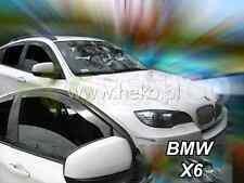 Windabweiser BMW X6 5-türer2007-2014 4-tlg HEKO dunkel Regenabweiser