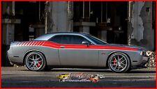Factory Stripe Dodge Challenger Dule Full  Automotive 3m Graphic Decal 2008 2010