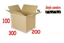 lot de 20 boîtes emballage carton 300 X 200 X 100 mm