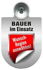 (309736) Alu- Schild Einsatzschild für Windschutzscheibe • BAUER • im Einsatz