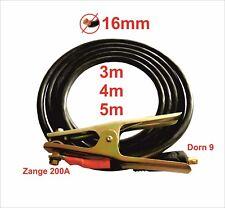 Massekabel mit Kabelstecker 25mm² 3m mit Dorn Ø 9mm 200A PVC Mantel #