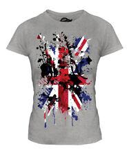 UNION JACK ABSTRACT PRINT LADIES T-SHIRT GREAT BRITAIN FLAG UK UNITED KINGDOM
