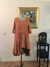 PEACOCK WAYS Asymmetrical Linen Dress