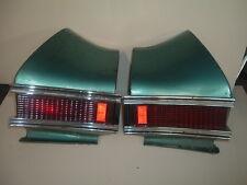 Pair (2) of 1968 ChevelleTail Light  Housing, Lens, Chrome Trim