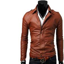 Giacca Giubbotto in Pelle Uomo Men Leather Jacket Veste Blouson Homme Cuir N14a