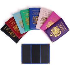 Nueva Funda Protectora Porta Pasaporte Reino Unido de la UE Cartera de Cuero PU Reino Unido
