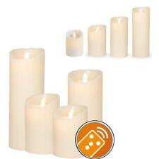 Sompex Flame LED-Echtwachs Kerze Classic 8x12,5/18/23cm elfenbein fernbedienbar