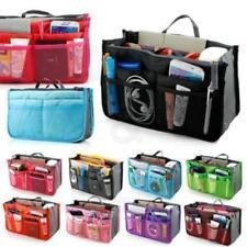 Portable Dual Organizer Bag Cosmetic Make-up Phone Storage Zipper Handbag Bags Q