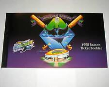Tampa Bay Devil Rays 1998 Complete Unused Season Ticket Book Roy Halladay Debut
