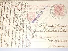WW1 cartolina postale  CIVIDATE AL PIANO - LAVONE VIAGGIATA 1918  doc6