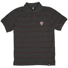 VfB Stuttgart Polo Shirt Hemd Logo mit Streifen grau S - XXXL