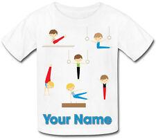 Boy's Gimnasia Personalizados Sublimación Camiseta-Boy 's Regalo & llamado demasiado