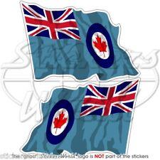 KANADISCHE Luftwaffe RCAF Wehende Flagge KANADA Fahne 75mm Sticker Aufkleber x2