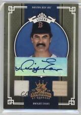 2005 Donruss Diamond Kings #282 Dwight Evans Boston Red Sox Auto Baseball Card
