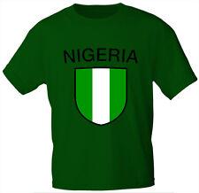 (76121) PAESI T-shirt bambini TGL 98 - 164 STEMMA intestazione NIGERIA