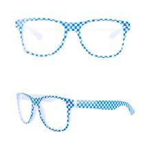 10x Partybrille Oktoberfest blau-weiß Faschingsbrille für Karneval Scherzbrille