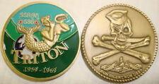 USS Triton SSRN 586 Submarine Coin Jolly Roger USN