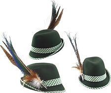 TRACHTENHUT für Damen Damenhut + großer Feder Hut Trachten Oktoberfest  grün