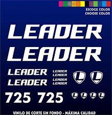 KIT PEGATINAS - STICKERS - VINILO - VINYL - BICICLETA - BIKE - LEADER 725 LAMINA