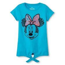 Disney Minnie Mouse  girls Blue t-shirt Size XS 4-5  S 6-6X NWT