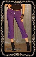 Lip Service Gangsta Cyber Goth Steampunk Anime Cosplay Purple Capri Pants