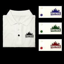 537691a07ea4d7 Boys Fortnite inspired school polo shirt (ONE SHIRT) any school colour logo