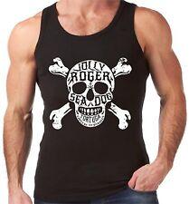 Velocitee Mens Vest Jolly Roger Skull & Crossbones Pirate Tortuga V173