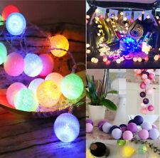 Cotton Balls LED Fairy Lights for sale   eBay