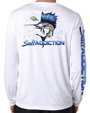 Salt Addiction Saltwater microfiber fishing long sleeve life t shirt 50+ uv