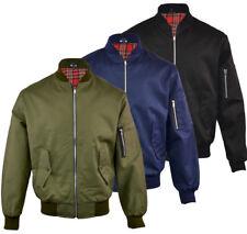 Mens Smart Premium Summer MA1 Style Harrington Biker Jacket Coat S-XXL