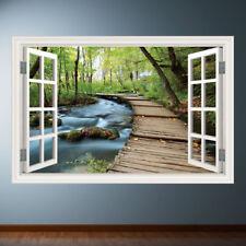 Jungle Walk Window Frame wall art sticker decal transfer mural Graphic WSD333