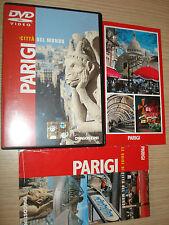 DVD CITTA' DEL MONDO PARIGI PARIS FRANCIA FRANCE  + LIBRETTO + MAPPA