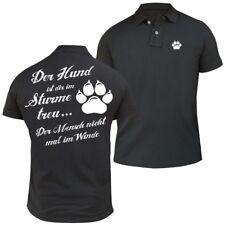 POLO Shirt Der Hund ist dir im Sturme treu hunde dog rasse züchter haustier welp