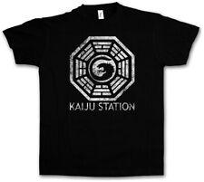 Vintage Kaiju estación t-shirt Pacific Mech monstruo rim Godzilla Monster Shirt
