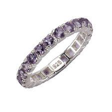 ZEEme Jewelry Ring Memoirering 925 Sterling Silber rhodiniert 24x Amethyst