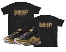 "Nike Air Max 97 95 Metallic Gold Bullet ""DRIP"" SHIRTS"